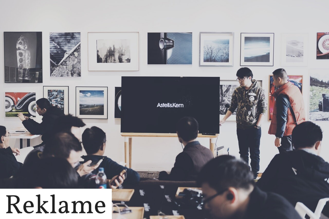 En præsentation på en skærm